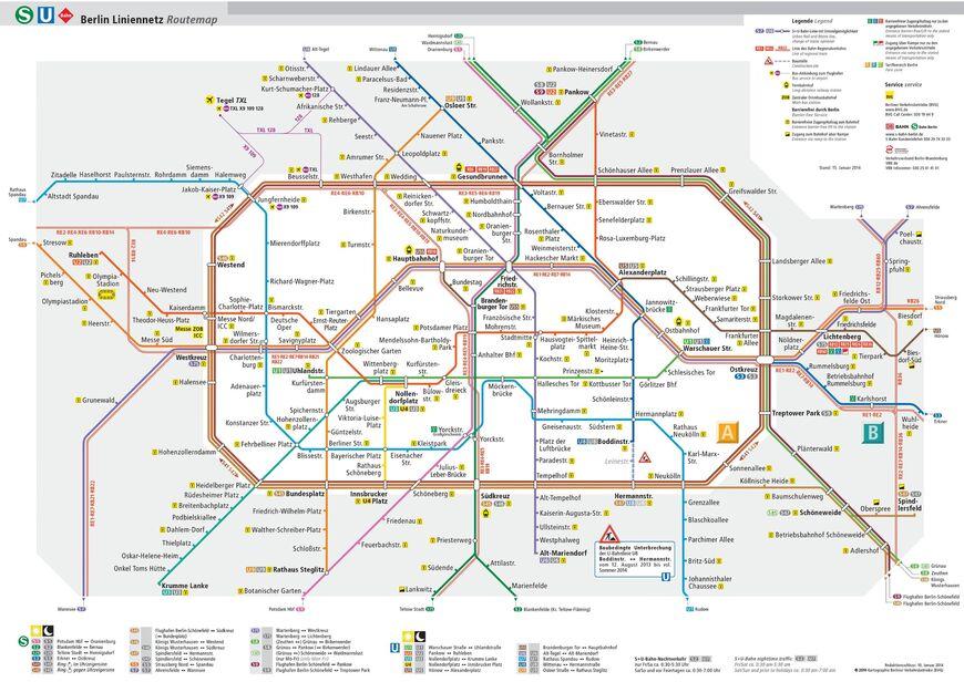 Схема общественного транспорта Берлина