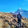 По дороге в Верхний лагерь Марди Химал