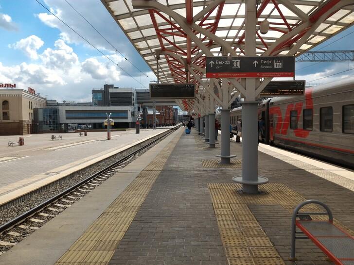 Платформа на вокзале Казани