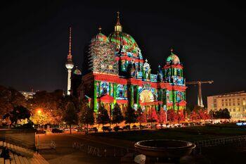 Берлинский кафедральный собор во время Фестиваля света