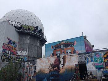 Заброшенные купола с граффити на горе Тойфельсберг