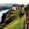 Тайны Праги - Вышеград. Вид с вышеградской скалы. Экскурсии с частным индивидуальным гидом по Праге.