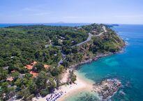 Вид на пляж Януи с квадрокоптера