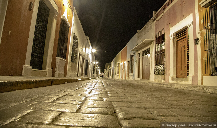 Древние улочки города Кампече