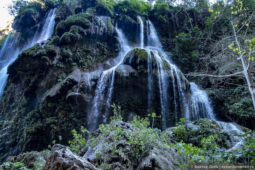 Водопад Эль Агуасеро. Великолепие Лакандонских джунглей.