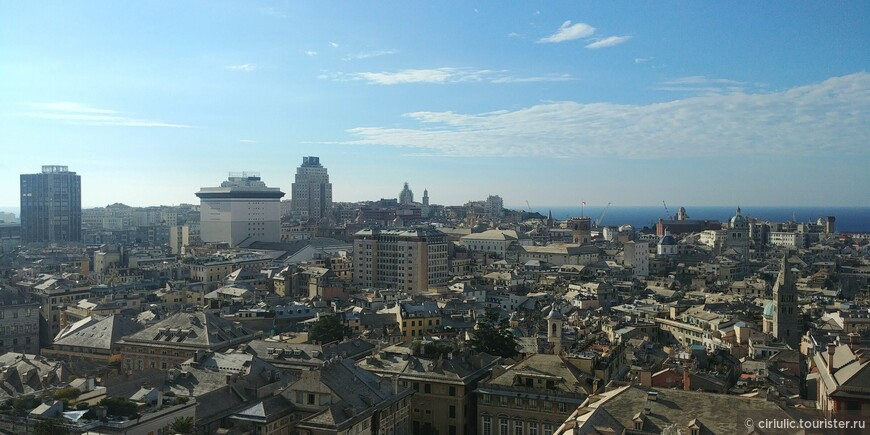 Вид на город с обзорной площадки.