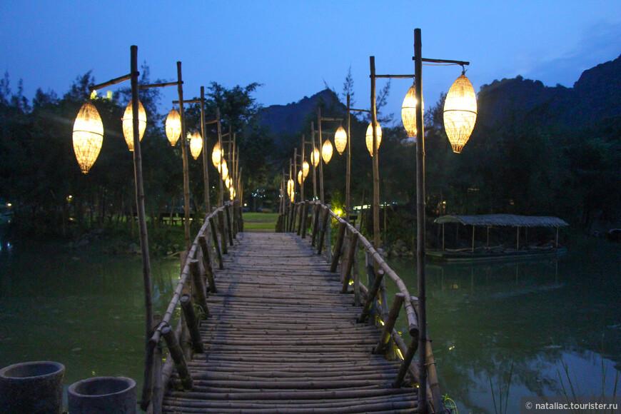И конечно, как и в Сапе, мы возвращались из парка в темноте, любуясь заженными фонариками.