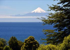Вид сверху на вулкан Осорно.