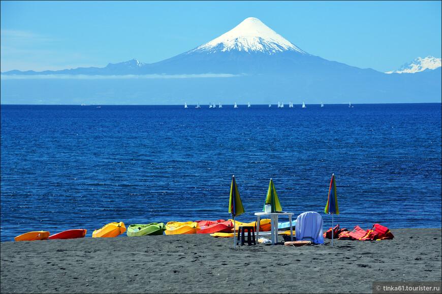 Ну и вулкан Осорно здесь тоже предстает во всей красе, как же без него!