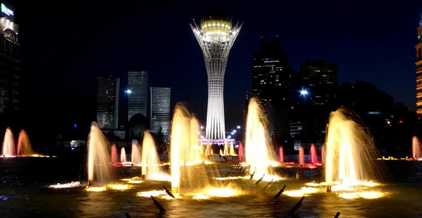 Поющий фонтан в в Астане (Нур-Султане)