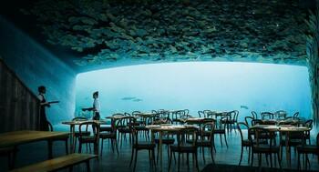В Норвегии появился крупнейший в мире подводный ресторан