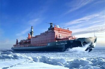 В этом году ледокол «50 лет Победы» совершит пять круизов на Северный полюс