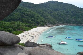 Таиланд ввёл квоты для туристов на посещение Симиланских островов