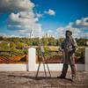 Скульптура художника на ул. Георгиевской