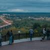Вид с обзорной площадки на пойму Клязьмы