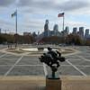 Панорама на город со ступенек музея. Филадельфия - первая столица США, обзорная индивидуальная экскурсия с Ярославом Бондаренко.