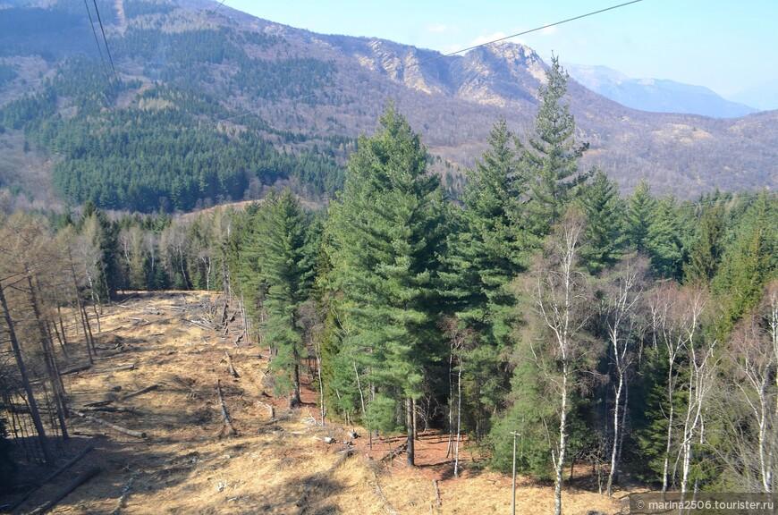 Видов на Стрезу с этой высоты уже не обнаружите, зато в поле зрения появляются лесистые горные участки.