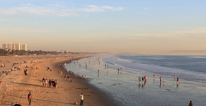 Пляж Венис-бич в Лос-Анджелесе (Venice Beach)