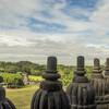 С балкона в храме Прамбанан