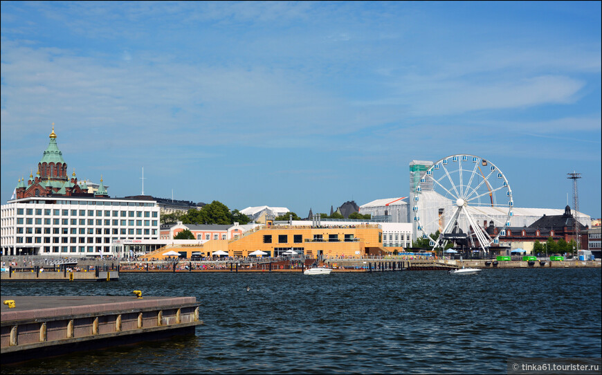 Вид на Колесо Обозрения Хельсинки.