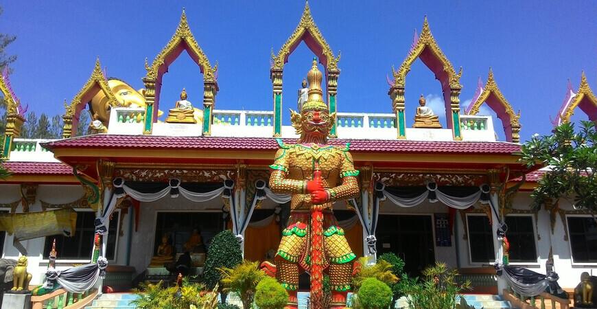 Храм лежащего Будды на Пхукете