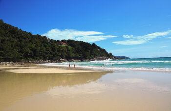 Пляж Карон в декабре