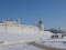 Вид на стену Казанского кремля и монастырские постройки с площади Тысячелетия