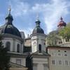 Женский монастырь на фоне костела Св. Эрхарда