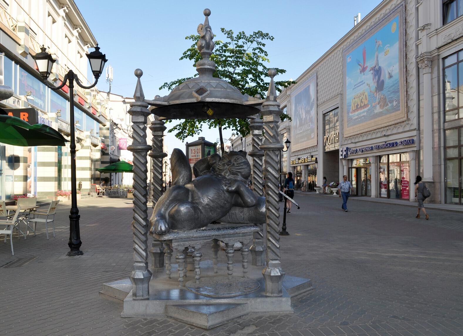 Памятник Кот Казанский адрес, легенда, история