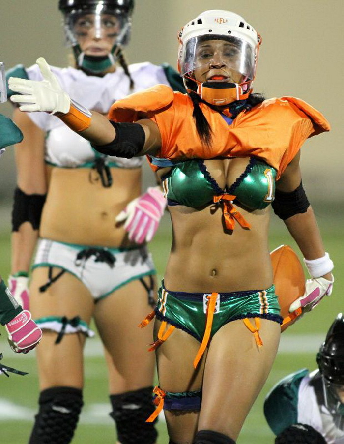 Naked girl with a football helmet on — pic 12