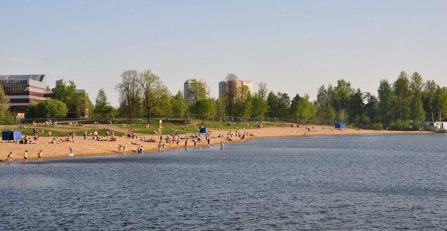 Пляж Озерки