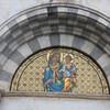 Тоскана, Пиза, центральная люнета на Кафедрале, Дева Мария с младенцем, мозаика 19 века, экскурсии по Флоренции и Тоскане с частным индивидуальным гидом на русском языке