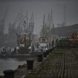 Антверпен в тумане нежном и глубоком