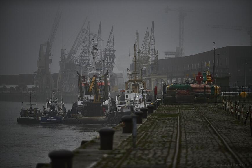 Набережная Шельды, именно в этом месте здесь был порт до середины XX века