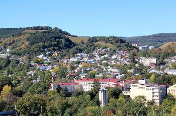 Санатории, гостевые и жилые дома. Вид с холма у Сосновой горы