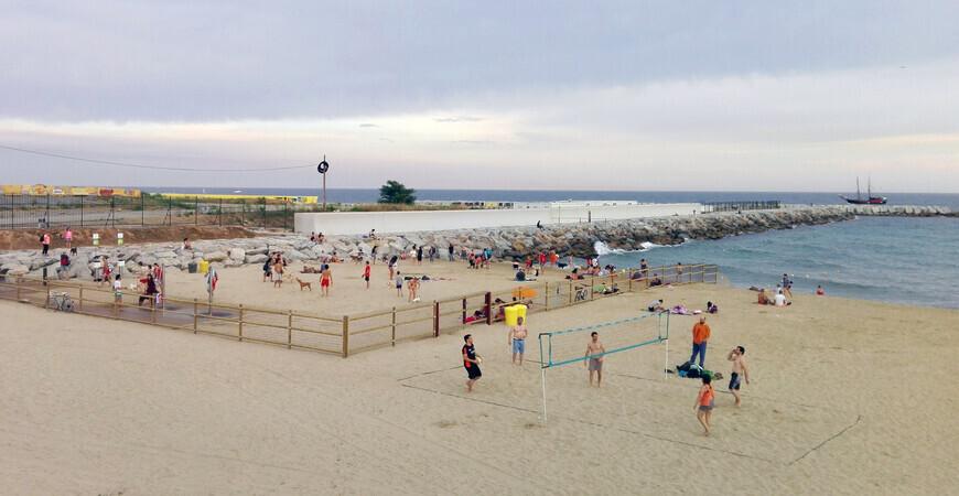Пляж Левант (Пасео Маритимо)