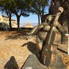 Сиена, площадь Св Августина с современными скульптурами, экскурсии по Флоренции и Тоскане с частным индивидуальным гидом на русском языке