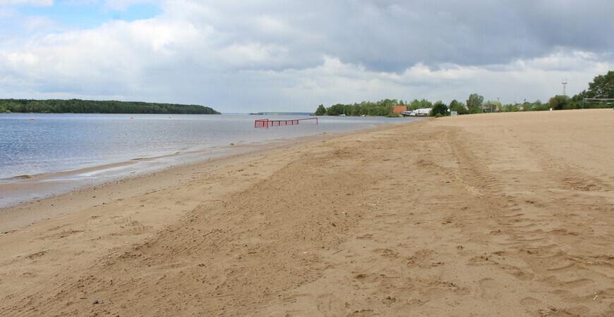 Ломоносовский пляж в Череповце