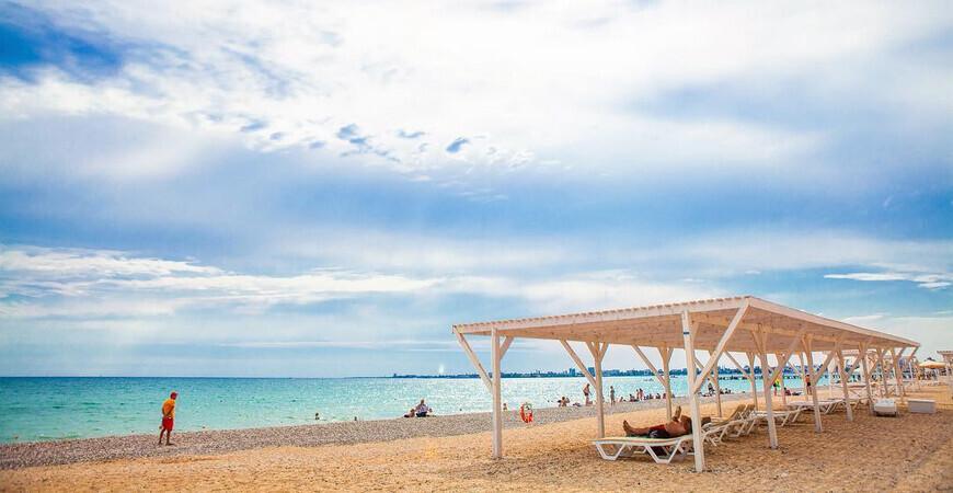 Пляж «Золотые пески» в Евпатории