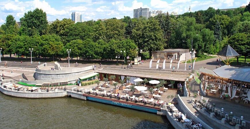 Оливковый пляж в парке им. Горького
