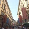 Флоренция, улица Торнабони с праздничными украшениями, экскурсии по Флоренции и Тоскане с частным индивидуальным гидом на русском языке