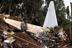 В индийской авиакатастрофе выжили несколько человек