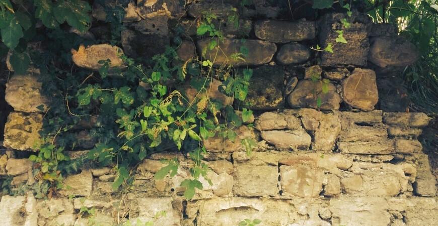 Остатки крепостной стены форта Лазарева