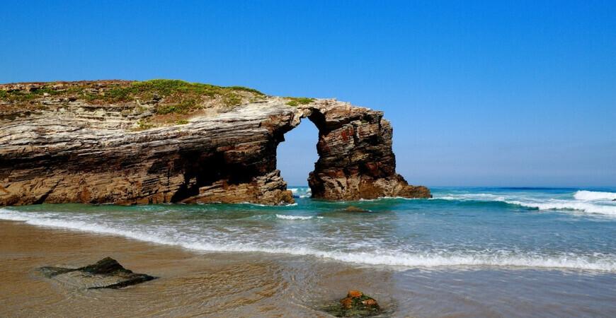 Пляж Кафедральных соборов (Praia de Augas Santas)