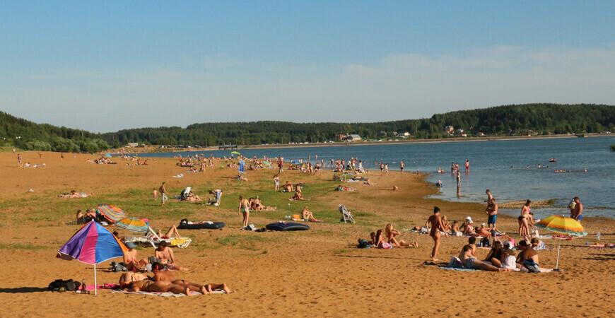 Пляж Дубровского водохранилища