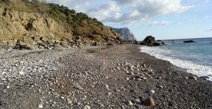 Серебряный пляж Балаклавы