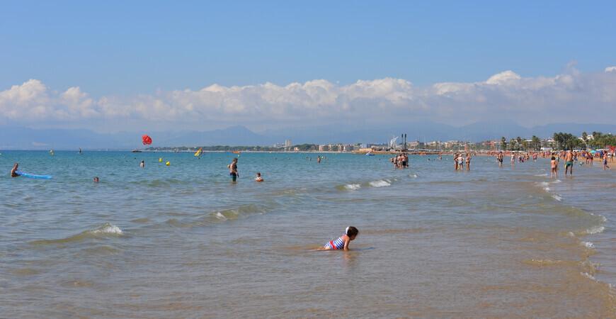 Пляж Леванте в Салоу (Восточный пляж)