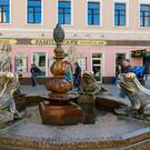 Фонтан с лягушками в Казани
