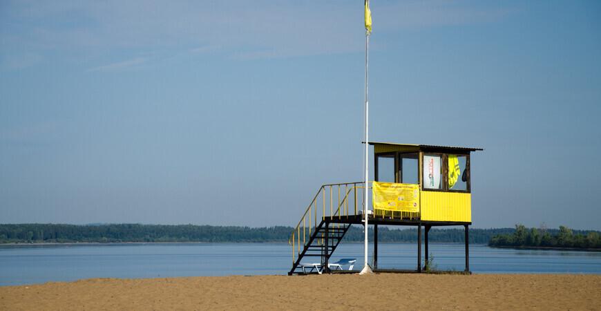Пляж курорта «Усть-Качка» возле Перми