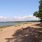 Пляж на Дудергофском озере